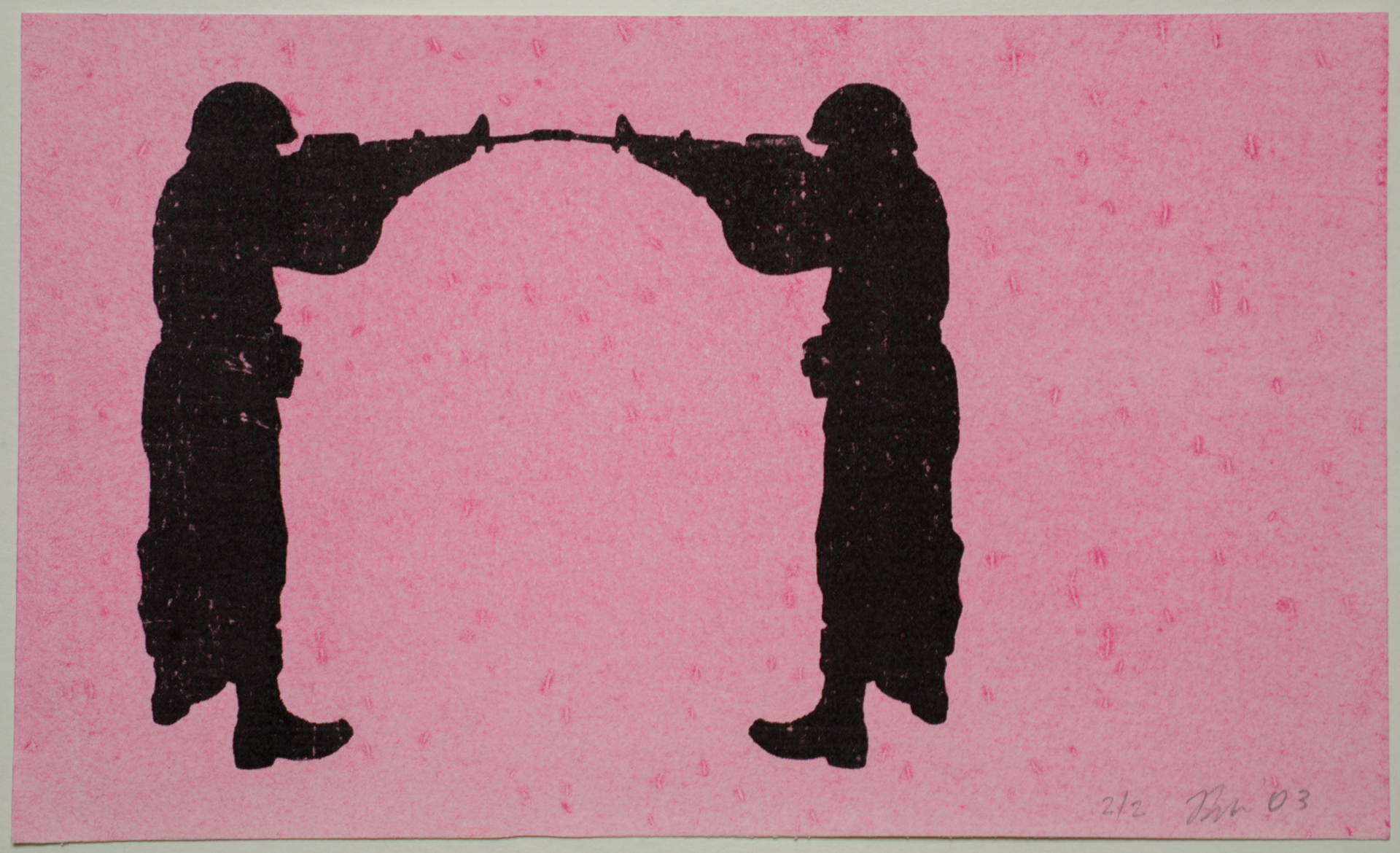 Romeo Alaeff, 'PERPETUAL STANDOFF' from 'War on the Brain.' Limited Variable Edition Print Edition, 2003. 9 x 5.5 in. (22.86 x 13.97 cm.)
