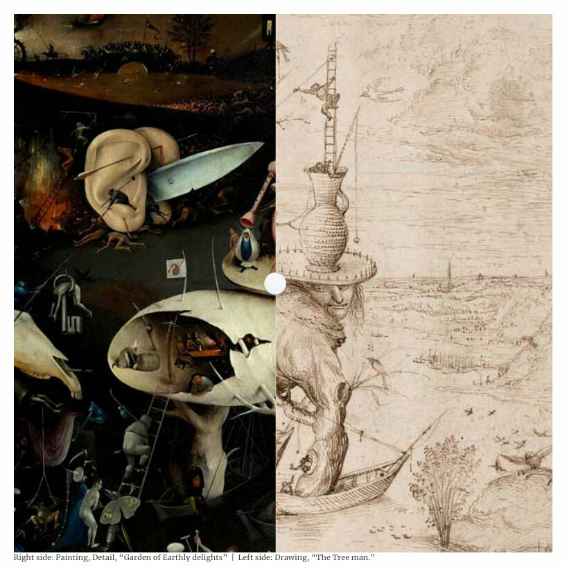 Screenshot from the website, Lines & Marks, an online platform dedicated to drawing across the arts and sciences.